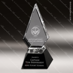 Crystal Black Accented Trophy Award In Motion Mirrored Diamond Trophy Award Diamond Shaped Crystal Awards
