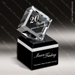 Crystal Black Accented The Rubicon Diamond Trophy Award Diamond Shaped Crystal Awards