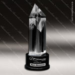 Crystal Black Accented Diamond Odyssey Tower Trophy Award Diamond Shaped Crystal Awards