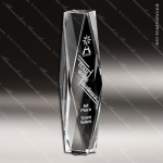 Crystal  Clear Diamond Cut Tower Obelisk Trophy Award Diamond Shaped Crystal Awards