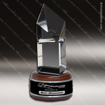 Crystal Wood Accented Optical Citadel Diamond Trophy Award Diamond Shaped Crystal Awards