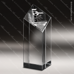 Crystal  Chiseled Column Diamond Trophy Award Diamond Shaped Crystal Awards