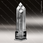 Crystal  Clear Obelisk Rhombus IV Trophy Award Diamond Shaped Crystal Awards