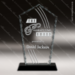 Jagiello Spear Glass Black Accented Diamond Facet Trophy Award Diamond Shaped Glass Awards