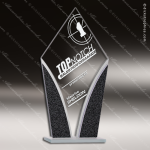 Jacmel Diamond Glass Black Accented Designer Trophy Award Diamond Shaped Glass Awards