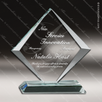 Glass Jade Accented Diamond Series Trophy Award Diamond Shaped Glass Awards