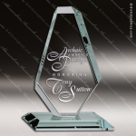 Tondre Obelisk Glass Jade Accented Royal Obelisk Diamond Trophy Award Diamond Shaped Glass Awards