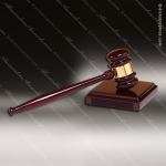 Rosewood Gavel Set Sounding Block Engraved Executive President Award Dick's Trophies | Crystal Awards | Plaques | Corporate Gifts | Custom Engraving | Artistic Glass