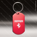 Laser Etched Engraved Keychain Aluminium Dog Tag Red Gift Award Dog Tag Keychains