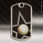 Medallion Star Series Dog Tag Volleyball Medal Dog Tag Medals