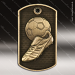 Medallion Dog Tag 3-D Series Soccer Medal Dog Tag Medals