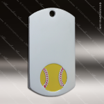 Medallion Silver Series Dog Tag Softball Medal Dog Tag Medals