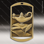 Medallion Dog Tag Series Scholastic Lamp of Knowledge Medal Dog Tag Medals