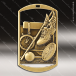 Medallion Dog Tag Series Track Cross Country Medal & Field Dog Tag Medals