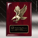Engraved Rosewood Plaque Eagle Cast Soaring Eagle Wall Placard Eagle Plaque Trophy Awards