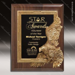 Engraved Walnut Plaque Gold Eagle Leadership Award Eagle Themed Plaques