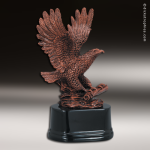 Premium Resin Bronze American Eagle with Scroll Trophy Award Eagle Trophy Awards