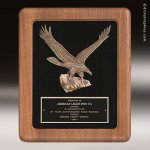 Walnut Frame Plaque with Eagle Casting Eagle Trophy Awards