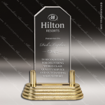 Economy Acrylic Gold Accented Clipped Corners Trophy Award Economy Acrylic Awards