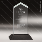 Economy Acrylic Black Accented Jade Frosted Arrow Trophy Award Economy Acrylic Awards