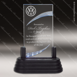 Economy Acrylic Black Accented Grooved Lighted Trophy Award Economy Acrylic Awards