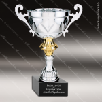 Cup Trophy Economy Silver Series Gold Trimmed Loving Cup Award Economy Silver Series Cup Trophy Awards