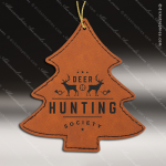 Personalized Embossed Leather Tree Christmas Ornament -Rawhide Embossed Leather Ornaments