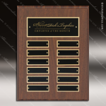 The Paciolla Laminate Cherry Perpetual Plaque  12 Black Plates Employee of the Month Year Quarter Plaques