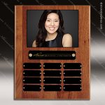 The Todesco Walnut Perpetual Plaque  12 Black Plates Photo Employee of the Month Year Quarter Plaques