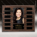The Jahoda Laminated Cherry Perpetual Plaque  12 Black Plates Photo Employee of the Month Year Quarter Plaques