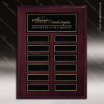 The Mottilla Mahogany Perpetual Plaque  12 Black Magnet Plates Employee of the Month Year Quarter Plaques