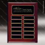 The Jagger Rosewood Perpetual Plaque  12 Black Plates Employee of the Month Year Quarter Plaques