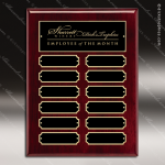 The Macari Rosewood Perpetual Plaque  12 Black Plates Employee of the Month Year Quarter Plaques