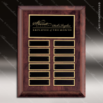 The Talemo Cherry Perpetual Plaque  12 Black Plates Employee of the Month Year Quarter Plaques