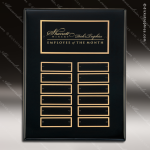 The Takadina Black Piano Finish Perpetual Plaque  12 Black Plates Employee of the Month Year Quarter Plaques