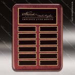 The Tagliarini Rosewood Perpetual Plaque  12 Black Plates Employee of the Month Year Quarter Plaques