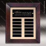 The Talamo Cherry Frame Perpetual Plaque  12 Black Plates Employee of the Month Year Quarter Plaques