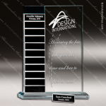 The Taccariello Glass Perpetual Plaque 12 Black Block Plates Employee of the Month Year Quarter Plaques