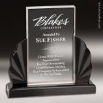 Acrylic Black Accented Midnight Series Award Employee Trophy Awards