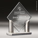 Acrylic Stone Accented Sandstone Diamond Trophy Award Employee Trophy Awards