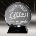 Crystal Black Accented Cavalcade Circle Trophy Award Employee Trophy Awards