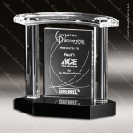 Crystal Black Accented Vanessa Trophy Award Employee Trophy Awards