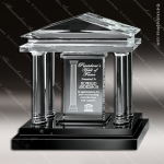 Crystal Black Accented Parthenon Trophy Award Employee Trophy Awards
