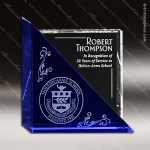 Crystal Blue Accented Acclaim Trophy Award Employee Trophy Awards