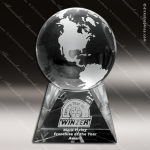 Crystal Clear Triad Globe Trophy Award Employee Trophy Awards