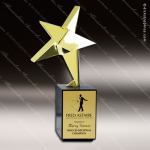 Traditional Gold Nova Star Trophy Award Employee Trophy Awards