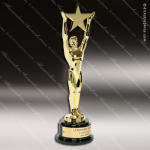 Traditional Gold Star Achievement Trophy Award Employee Trophy Awards