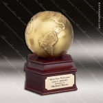 Traditional Gold Globe Trophy Award Employee Trophy Awards