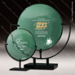 Artistic Jade Glass Rathbone Plate Trophy Award Employee Trophy Awards