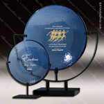 Artistic Blue Glass Raisin Spinoza Plate Trophy Award Employee Trophy Awards